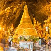 Die Pindaya Höhlen.