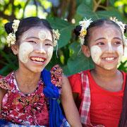 Freundliche Menschen in Myanmar