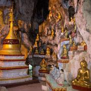 Buddha-Statuen in Pindaya cave