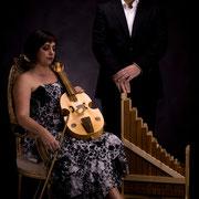 Carmen Hidalgo / canto y viola + Alberto Barea / canto y organetto / foto : Jaime Pérez