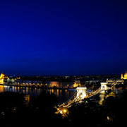 Panorama Budapest with Széchenyi chain bridge [Budapest/HUNGARY]