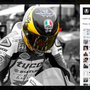 3 November 2014 Guy Martin to AGV Helmets  https://www.facebook.com/AGVhelmets/photos/pb.132543450107041.-2207520000.1424176281./915352435159468/?type=3&theater