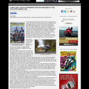18 May 2015 on Next Moto Champion  http://www.nextmotochampion.com/nmc-news/a-brilliant-13th-in-superbike-for-dan-kruger-at-the-2015-northwest-200