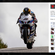 16 August 2014 Guy Martin to Dainese  https://www.facebook.com/daineseofficial/photos/pb.88677828726.-2207520000.1421931387./10152361942308727/?type=3&permPage=1