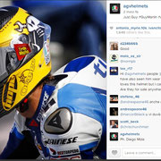 August 2014 Guy Martin to AGV Helmets on Instagram  http://instagram.com/p/rMfQclEs2y/?modal=true