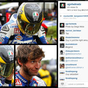 September 2014 Guy Martin to AGV Helmets on Instagram  http://instagram.com/p/sNIwcxEs9P/?modal=true