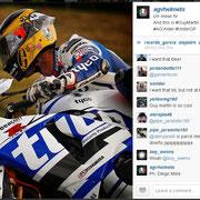 September 2014 Guy Martin to AGV Helmets on Instagram  http://instagram.com/p/r2CD68ks1n/?modal=true