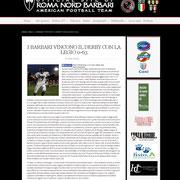 11 March 2013 Barbari Roma Nord  http://www.barbariromanord.com/news/i-barbari-vincono-il-derby-con-la-legio-0-63