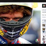 11 January 2015 Guy Martin to AGV Helmets  https://www.facebook.com/AGVhelmets/photos/pb.132543450107041.-2207520000.1427130411./955907184437326/?type=3&theater