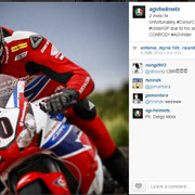 August 2014 Conor Cummins to AGV Helmets on Instagram  http://instagram.com/p/rmXEufEs5I/?modal=true
