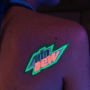 Fluor Paint Logo Mtn Dew Barcelona Beach Party 2016