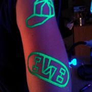 Pintura Fluor, UV Make UP MTN DEW Barcelona Beach Party 2016