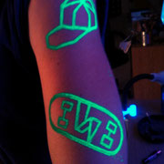 Pintura Fluor, UV Make UP MTN DEW Barcelona Beach Party 2016