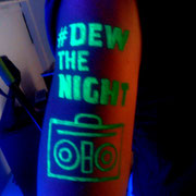 Fluor Body Paint Montain Dew Barcelona Beach Party 2016