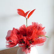 bouquet de coquelicots en soie