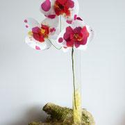 branche d'orchidées en soie
