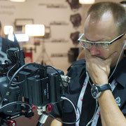 Stefan Czech at the Carl Zeiss booth IBC 2013