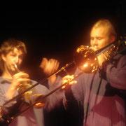 Simon Plane ,trompette et Renaud Weber trombone