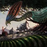 """Illustration zum Märchen """"Der Schlangenkönig"""" von Ernst Moritz Arndt"""