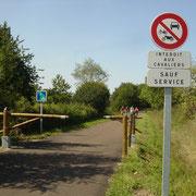 Ballade à vélo sur la voie verte voie Iguerande - Marcigny - Montceaux-l'Etoile (71)
