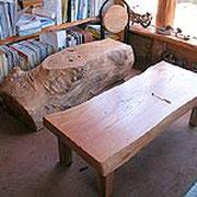 T氏作 ベンチ&テーブル