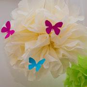 Schmetterlingsdeko - selbst gemachte Dekoration für Kinderparty und Kindergeburtstag