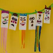 Monstergirlande - selbst gemachte Deko für Kinderparty und Kindergeburtstag