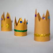 Goldene Körnchen - selbst gemachte Dekoration für Kinderparty und Kindergeburtstag