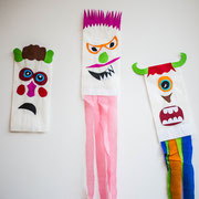 Minimonster - selbst gemachte Dekoration für Kinderparty und Kindergeburtstag