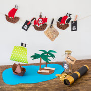 Piratendeko - selbst gemachte Dekoration für Piratenparty und Kindergeburtstag
