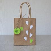Geschenktüten für den Kindergeburtstag - Herzen
