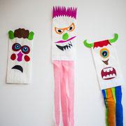 Minimonster - selbst gemachte Deko für Kinderparty und Kindergeburtstag