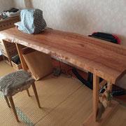 オーダーテーブル 一枚板