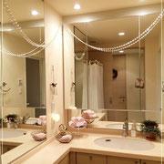 ホテルのような美しい洗面所に変身