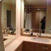 開業前の洗面所
