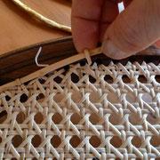 canage chevillé: pose des petits ponts sur brin de bordure