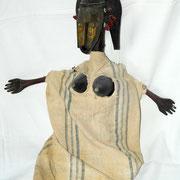 buste bozo-bamana, déesse du fleuve, Mali