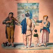 Cantastoria, chanteurs ambulants, Italie, début XIXe