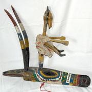 marionnette Bozo homme & antilope, Mali