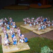 ägyptische Infanterie rückt vor