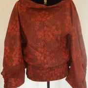 Sarouel 3 in 1 en coton Rouge imprimés noirs