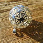 Nummer 1 Silberkugel Blume des Lebens