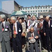 (前列左から)姫田代表、高橋さん、坂倉さん(元中帰連)