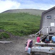 賢治が生徒と何度も登った「岩手山」(八合目の小屋から)