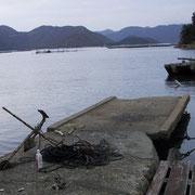 「ハンセン病患者」は船で、ここから島に上陸した。
