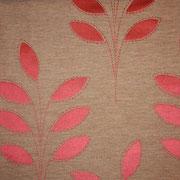 Ткань портьерная Io Unique Арт. Leaf pink 537069/2; ширина 143 см; плотность 186 гр.; раппорт (шхв) 28х 42,5 см; состав 45,3% полиэстер, 41% хлопок, 13,7% вискоза