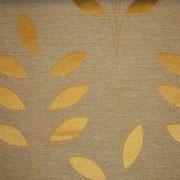 Ткань портьерная Io Unique Арт. Leaf Bronze 537069/8; ширина 143 см; плотность 186 гр.; раппорт (шхв) 28х 42,5 см; состав 45,3% полиэстер, 41% хлопок, 13,7% вискоза