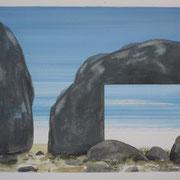 2 - Régénérescence - Huile sur papier canson 65 x 50 cm (format extérieur)