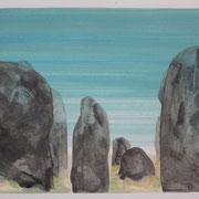 1 - Régénérescence - Huile sur papier canson 65 x 50 cm (format extérieur)