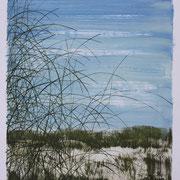 6 - Régénérescence - Huile sur papier canson 65 x 50 cm (format extérieur)